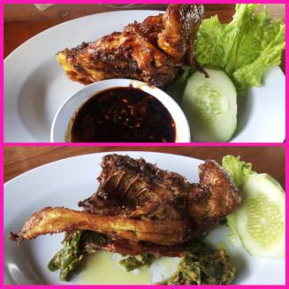Ayam Bakar dan Ayam Kampung cabe Ijo